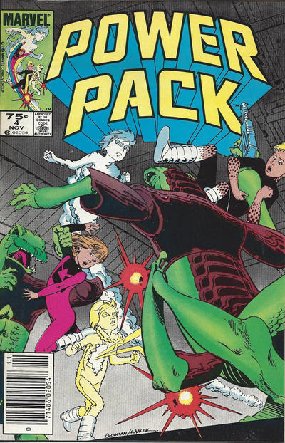 Cover for Power Pack (Marvel, 1984 series) #4 [Newsstand Edition]