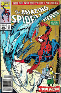 Cover for The Amazing Spider-Man (Marvel, 1963 series) #368 [Direct Edition]