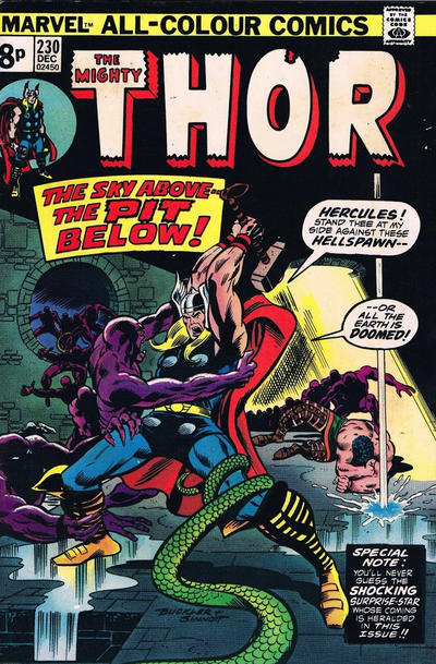 Cover for Thor (Marvel, 1966 series) #230