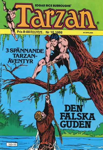 Cover for Tarzan (Atlantic Förlags AB, 1977 series) #10/1986