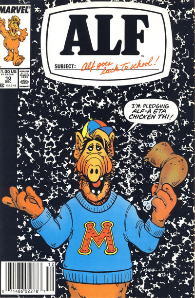 Cover for ALF (Marvel, 1988 series) #10 [Direct Edition]