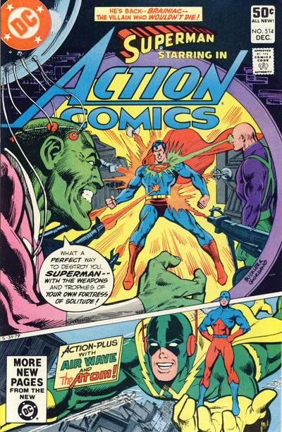Cover for Action Comics (DC, 1938 series) #514 [Newsstand Edition]