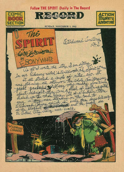 Cover for The Spirit (Register and Tribune Syndicate, 1940 series) #11/1/1942