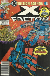 Cover for X-Factor (Marvel, 1986 series) #61 [Direct Edition]