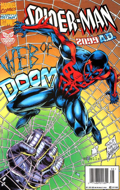 Cover for Spider-Man 2099 (Marvel, 1992 series) #34 [Direct Edition]