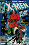 Cover Thumbnail for The Uncanny X-Men (1981 series) #185 [Newsstand Edition]