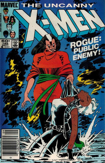 Cover for The Uncanny X-Men (Marvel, 1981 series) #185 [Direct Edition]