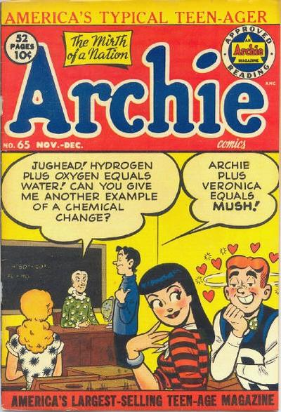 Cover for Archie Comics (Archie, 1942 series) #65