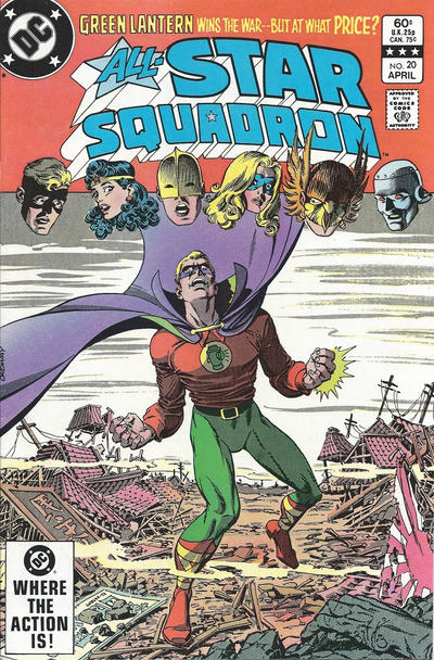 Cover for All-Star Squadron (DC, 1981 series) #20 [Newsstand]