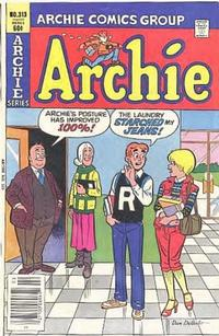 Cover Thumbnail for Archie (Archie, 1959 series) #313