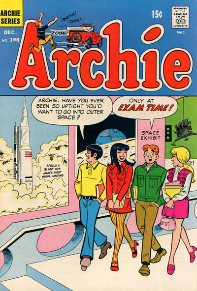 Cover for Archie (Archie, 1959 series) #196