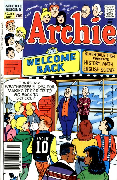 Cover for Archie (Archie, 1959 series) #362