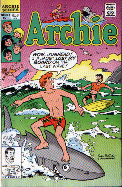 Cover for Archie (Archie, 1959 series) #392 [Direct]