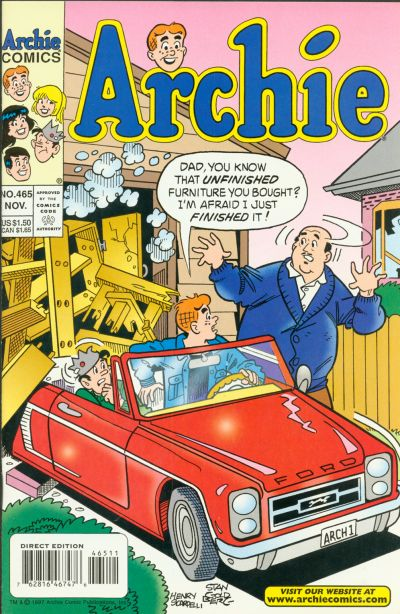 Cover for Archie (Archie, 1959 series) #465