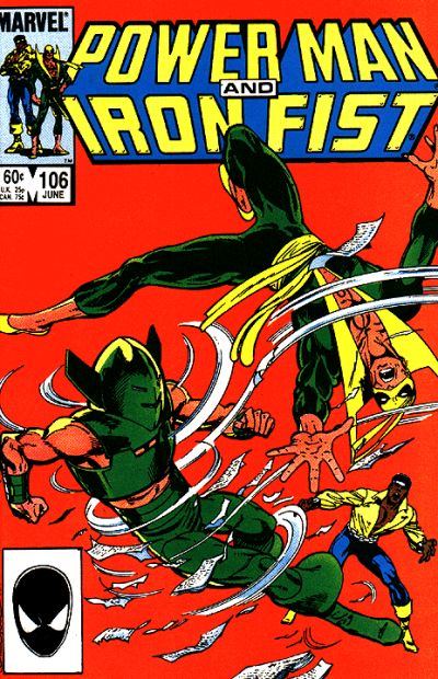 Cover for Power Man and Iron Fist (1981 series) #106 [Newsstand Edition]