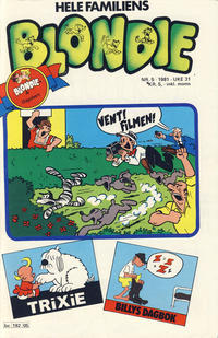 Cover Thumbnail for Blondie (Semic, 1980 series) #5/1981