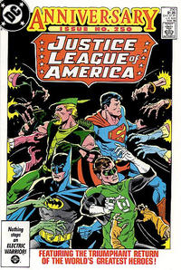 Cover for Justice League of America (DC, 1960 series) #250 [Newsstand]