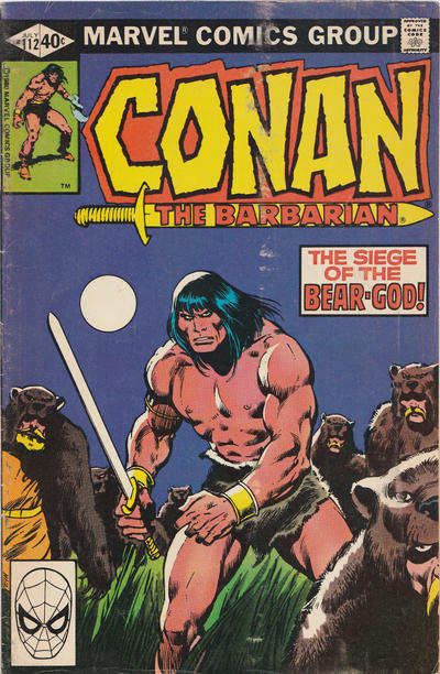 Cover for Conan the Barbarian (Marvel, 1970 series) #112 [Direct Edition]