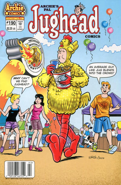 Cover for Archie's Pal Jughead Comics (Archie, 1993 series) #190 [Direct Edition]