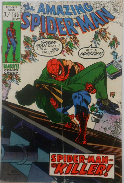 Cover for The Amazing Spider-Man (Marvel, 1963 series) #90 [Regular Edition]