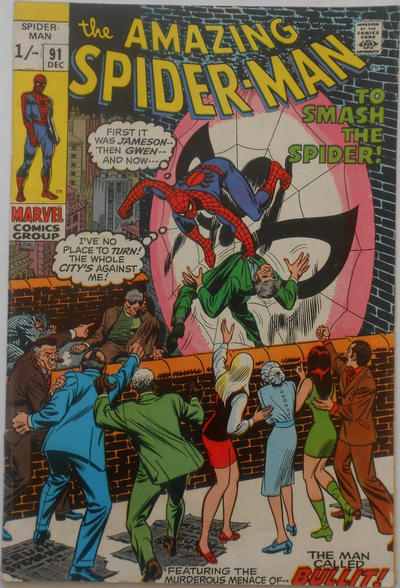 Cover for The Amazing Spider-Man (Marvel, 1963 series) #91 [Regular Edition]