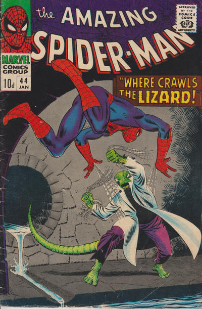 Cover for The Amazing Spider-Man (Marvel, 1963 series) #44 [Regular Edition]
