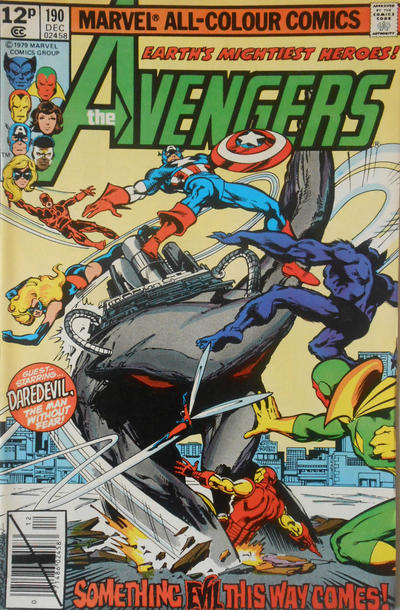 Cover for The Avengers (Marvel, 1963 series) #190 [Direct Edition]