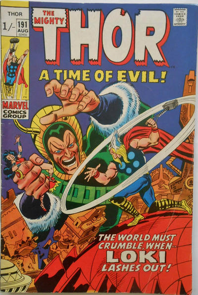 Cover for Thor (Marvel, 1966 series) #191 [Regular Edition]
