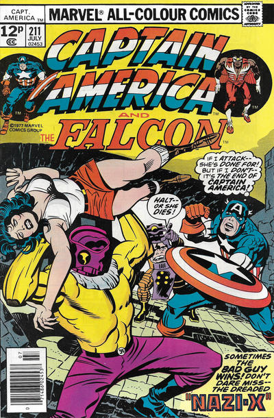 Cover for Captain America (Marvel, 1968 series) #211 [30¢ Cover Price]