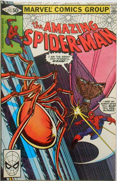 Cover for The Amazing Spider-Man (Marvel, 1963 series) #213 [Direct Edition]