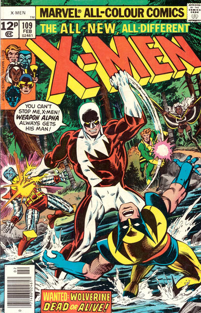 Cover for The X-Men (Marvel, 1963 series) #109 [Regular Edition]