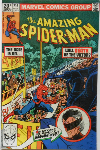 Cover for The Amazing Spider-Man (Marvel, 1963 series) #216 [Direct Edition]