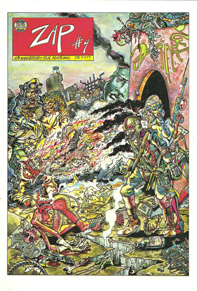 Cover for Zap Comix (The Print Mint Inc, 1969 series) #9
