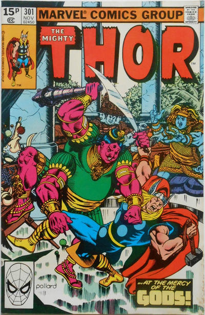 Cover for Thor (Marvel, 1966 series) #301 [Direct Edition]