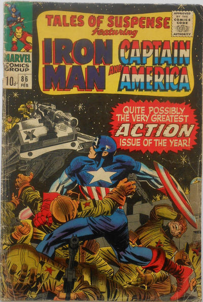 Cover for Tales of Suspense (Marvel, 1959 series) #86 [Regular Edition]