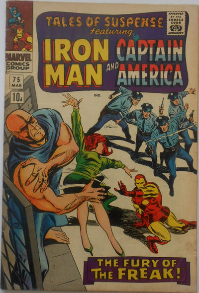 Cover for Tales of Suspense (Marvel, 1959 series) #75