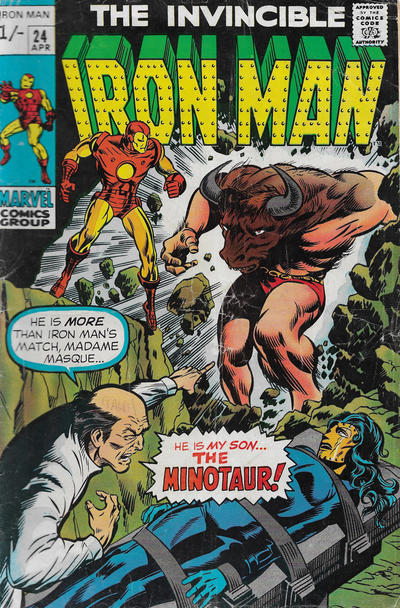 Cover for Iron Man (Marvel, 1968 series) #24 [Regular Edition]