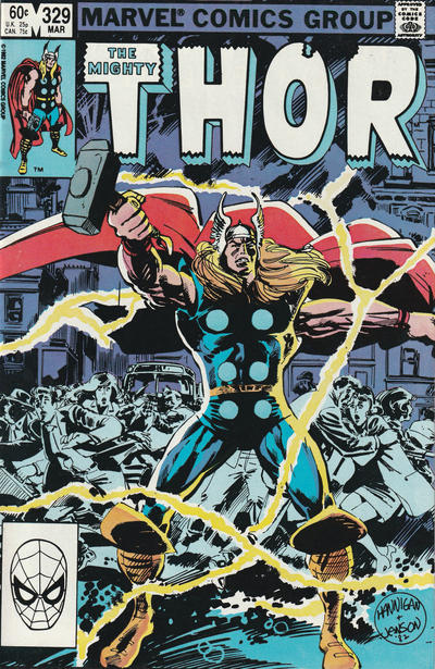 Cover for Thor (Marvel, 1966 series) #329 [Direct Edition]