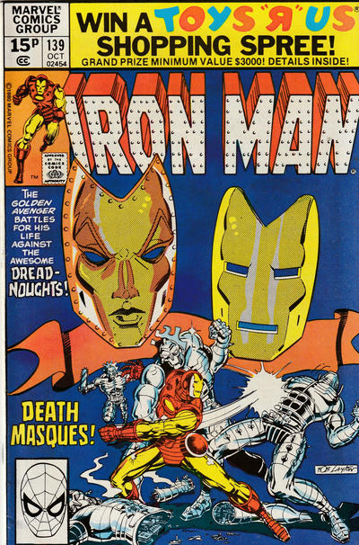 Cover for Iron Man (Marvel, 1968 series) #139 [Direct Edition]