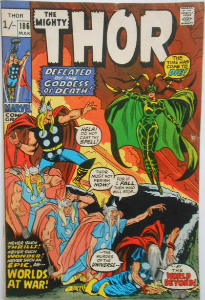 Cover for Thor (Marvel, 1966 series) #186 [Regular Edition]