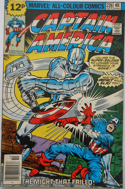 Cover for Captain America (Marvel, 1968 series) #226 [Whitman Edition]