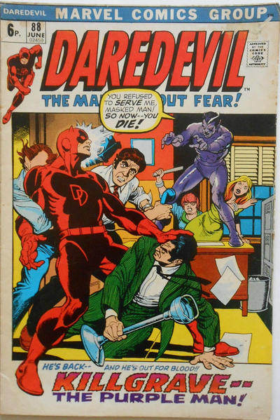 Cover for Daredevil (Marvel, 1964 series) #88 [Regular Edition]