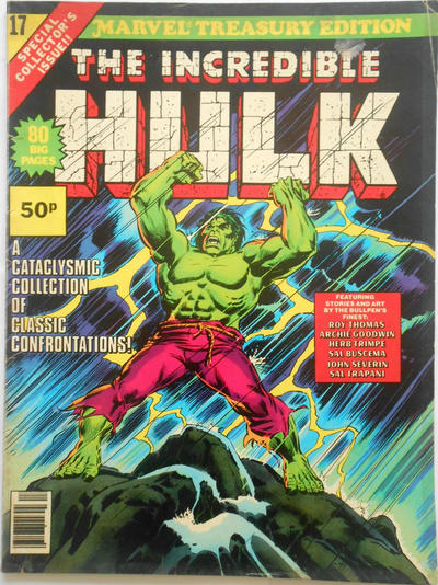Cover for Marvel Treasury Edition (Marvel, 1974 series) #17 [Regular Edition]