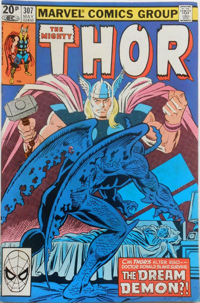Cover for Thor (Marvel, 1966 series) #307 [Newsstand]