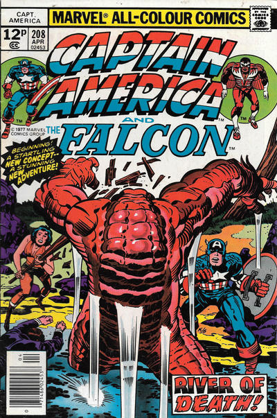 Cover for Captain America (Marvel, 1968 series) #208 [Regular Edition]