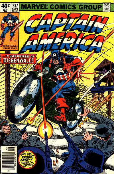Cover for Captain America (Marvel, 1968 series) #237 [Direct Edition]