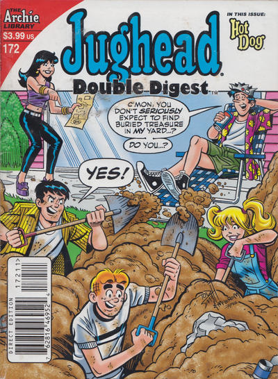 Cover for Jughead's Double Digest (Archie, 1989 series) #172 [Direct]