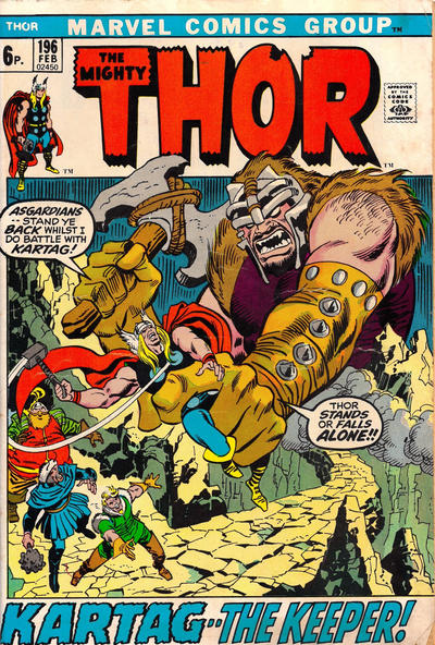 Cover for Thor (Marvel, 1966 series) #196 [Regular Edition]