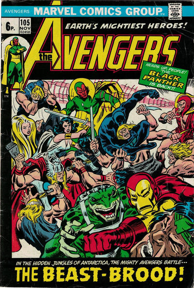 Cover for The Avengers (Marvel, 1963 series) #105 [Regular Edition]