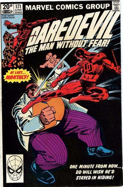 Cover for Daredevil (Marvel, 1964 series) #171 [Direct Edition]